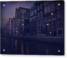 That Evening In Amsterdam Acrylic Print by Laurie Search