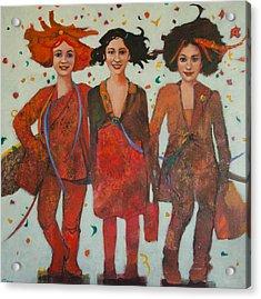 That Friday Feeling Acrylic Print by Jennifer Croom