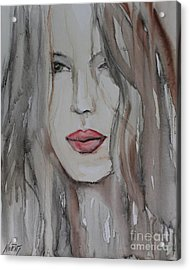 That Lips Acrylic Print by Jindra Noewi