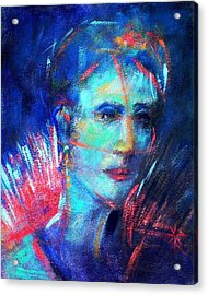 Acrylic Print featuring the painting That Moment by Jodie Marie Anne Richardson Traugott          aka jm-ART