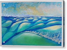 That One Wave That Says You're On Land And  That Whole Sky That Says It's All A Dream  Acrylic Print