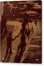 That  Rainy Night  Acrylic Print by Renee McKnight