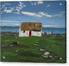 Thatch Cottage Ballyconneelly Connemara Ireland Acrylic Print