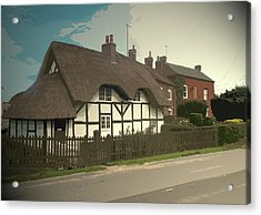 Thatch Cottage,  Coton In The Clay, Perfectly Presented Acrylic Print by Litz Collection