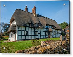 Thatched Cottage Ashton Under Hill Worcestershire Acrylic Print by David Ross