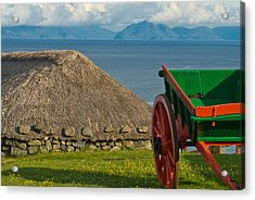Thatched Cottage In Kilmuir Isle Of Skye Acrylic Print by David Ross