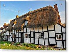 Thatched Cottage Welford On Avon Acrylic Print by David Ross
