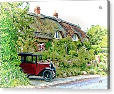 Thatched Cottages At Reybridge Acrylic Print