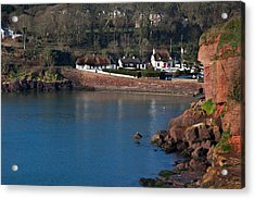 Thatched Cottages, Dunmore Strand Acrylic Print