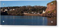 Thatched Cottages In A Town, Dunmore Acrylic Print