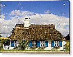 Thatched Country House Acrylic Print by Heiko Koehrer-Wagner