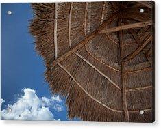 Thatched Umbrella Acrylic Print