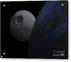 Acrylic Print featuring the digital art ...that's No Moon... by Andy Heavens