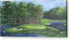 The 10th At Meadow Brook Golf Club Acrylic Print by Annie St Martin