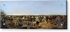 The 10th Regiment Of Dragoons Arriving Acrylic Print by A.E. Eglington
