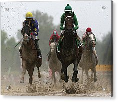 The 141st Running Of The Preakness Acrylic Print by Rob Carr