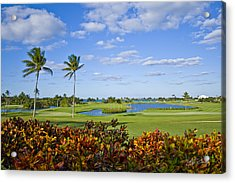 The 18th Green At Ocean Club Golf Course Acrylic Print