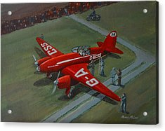 Acrylic Print featuring the painting The Great Air Race by Murray McLeod