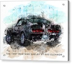 The 1967 Shelby Gt-500 Eleanor Acrylic Print