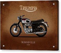 The 1968 Triumph Bonneville Acrylic Print by Mark Rogan