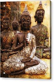 the 4 Buddhas Acrylic Print by Joachim G Pinkawa