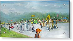 Acrylic Print featuring the painting The 4th Of July by Oz Freedgood