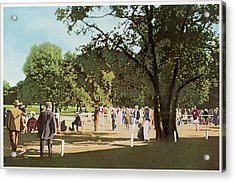 The 500 Metre Race Is Run In  The Bois Acrylic Print by Mary Evans Picture Library