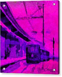 The 7am Train Tnm Acrylic Print by Vincent DiNovici