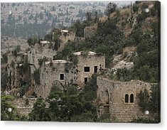 The Abandoned Palestinian Village Of Lifta On The Outskirts Of Jerusalem Acrylic Print by Eddie Gerald