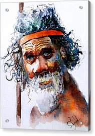 The Aborigine Acrylic Print by Steven Ponsford