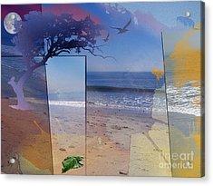 The Abstract Beach Acrylic Print by Bedros Awak