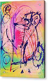 The Abstract Music Makers Acrylic Print by Ruth Yvonne Ash