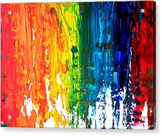 The Abstract Rainbow Beach Series I Acrylic Print by M Bleichner