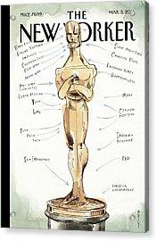 The Academy Award's Beauty Secrets Acrylic Print