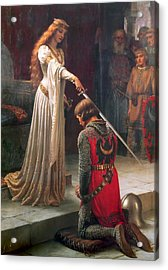 The Accolade Acrylic Print by Edmund Leighton