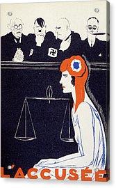The Accused Acrylic Print by Paul Iribe