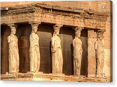 The Acropolis Caryatids Acrylic Print by Deborah Smolinske