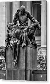 The Actor Statue Philadelphia Acrylic Print by Bill Cannon