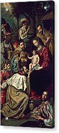 The Adoration Of The Magi, 1620 Oil On Canvas Acrylic Print by Luis Tristan de Escamilla