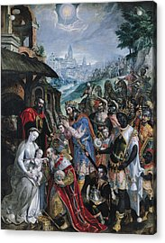 The Adoration Of The Magi  Acrylic Print by Maarten de Vos