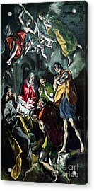The Adoration Of The Shepherds From The Santo Domingo El Antiguo Altarpiece Acrylic Print