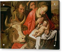 The Adoration Of The Shepherds Acrylic Print by Pieter Aertsen