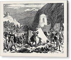 The Afghan War Native Camp Followers Looting The Afghan Acrylic Print