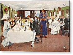 The After-dinner Speech, From The Light Acrylic Print by Lance Thackeray