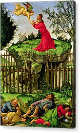 The Agony In The Garden, C.1500 Oil On Canvas Acrylic Print