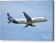 The Airbus A320 In Flight Over Paris Acrylic Print