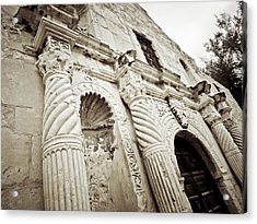 The Alamo Acrylic Print by Linda Unger