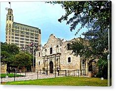 Acrylic Print featuring the photograph The Alamo by Ricardo J Ruiz de Porras
