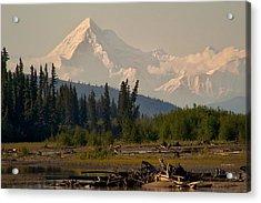 The Alaska Range At Mount Hayes Acrylic Print by Michael Rogers