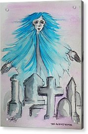 The Albino Woman Of Topeka Acrylic Print by The GYPSY And DEBBIE